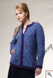 Жакет. Тунисское вязание.