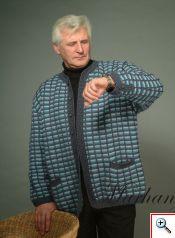 Мужской жакет. Тунисское вязание.